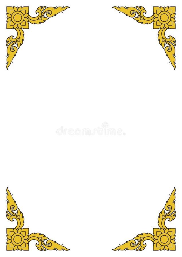thai linje vektor illustrationer