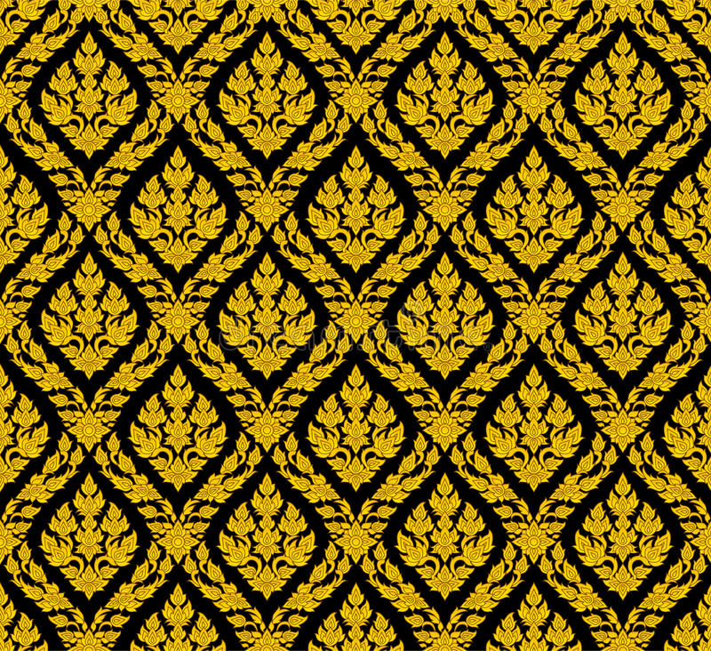 thai linje royaltyfri illustrationer