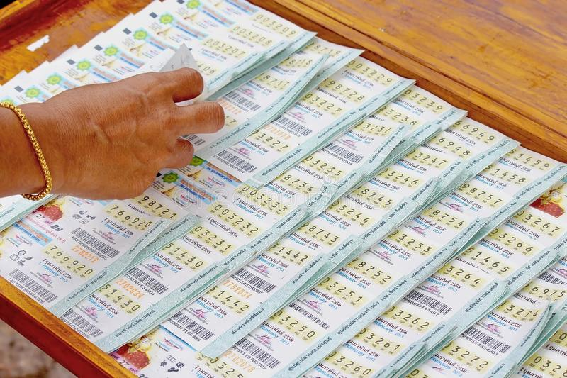 Thai lottery ticket stock photo. Image of paper, thai