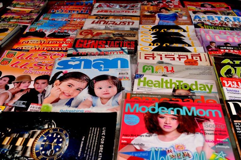 Thai Magazines Editorial Stock Image
