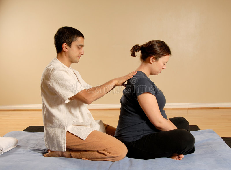 thai massage arkivbild