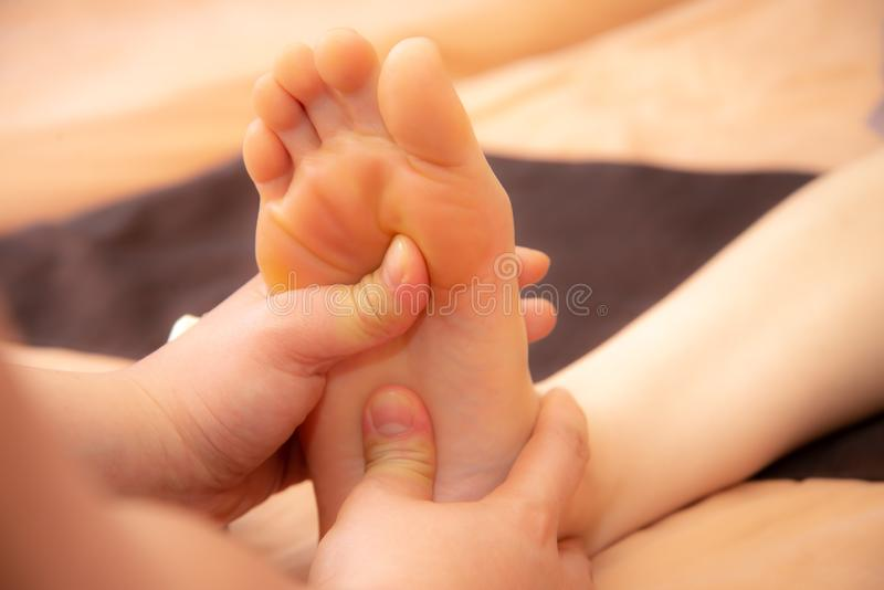 Thai Massage health plan for foot. Thai massage healthy painful  for foot stock images