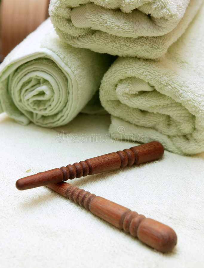 Free Thai Massage Sticks And Towel Royalty Free Stock Photo - 267785