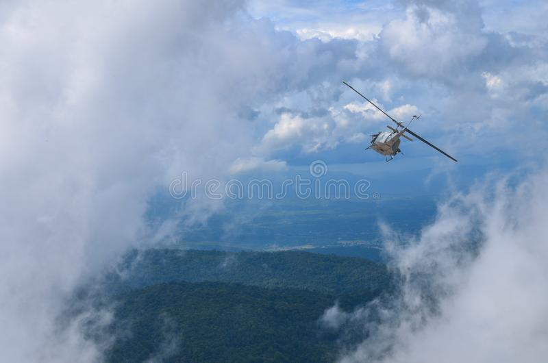 Thai Military Helicopter royalty free stock image