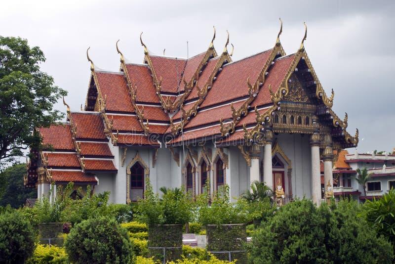 Thai monastery in Bodhgaya stock image
