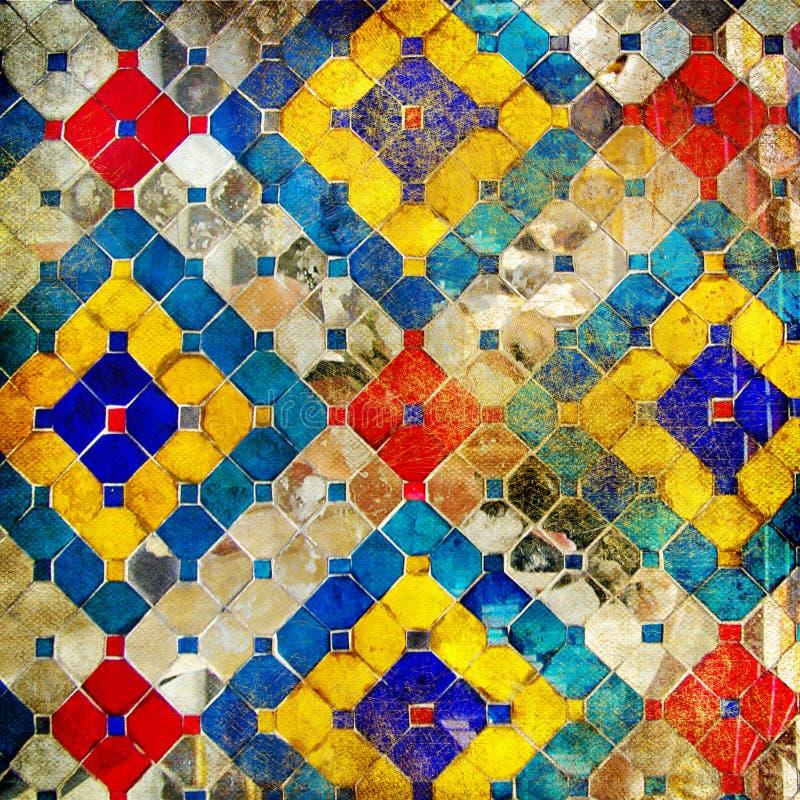 thai mosaik stock illustrationer