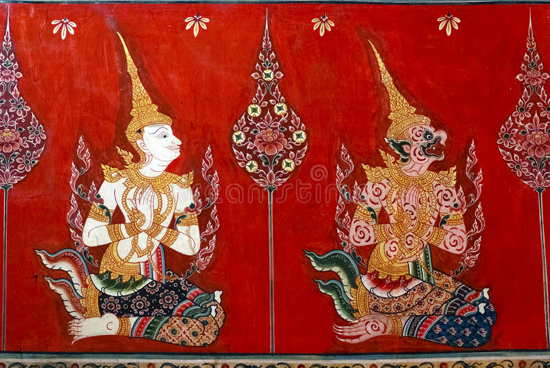 Download Thai mural painting stock photo. Image of temple, decoration - 26855856