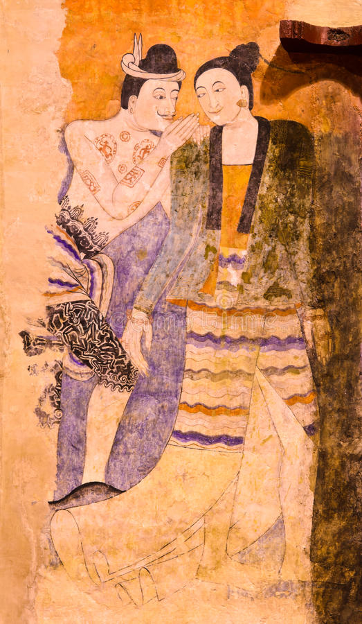 Download Thai mural painting stock photo. Image of style, mythology - 28562088