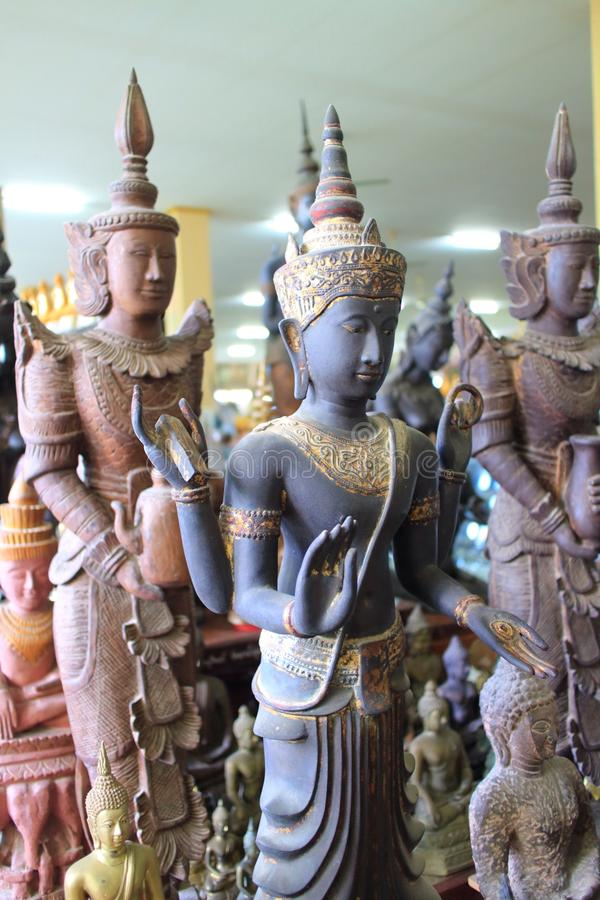 Thai mythology Angel Statues. The image of ancient Thai mythology Angel Statues. In the Thai tradition, they are considered to be angels: they were men and women stock photos