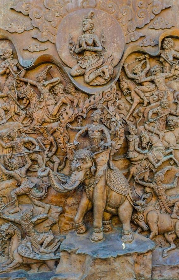 Thai mythology statue. royalty free stock photo