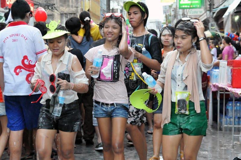 Thai New Year Celebrations In Bangkok Editorial Stock Image