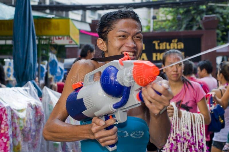 Thai new year festival royalty free stock photos