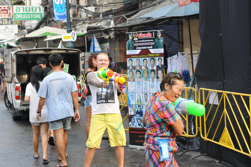 Download Thai New Year - Songkran editorial photo. Image of kids - 30411226