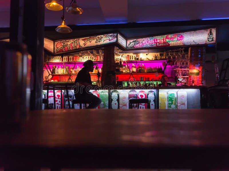 Thai night life. Thai pub bar night life in bangkok royalty free stock image