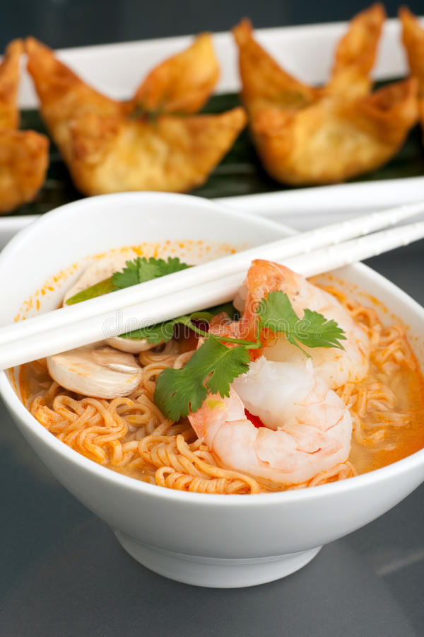Download Thai Noodle Soup With Prawns Stock Photo - Image: 18570400
