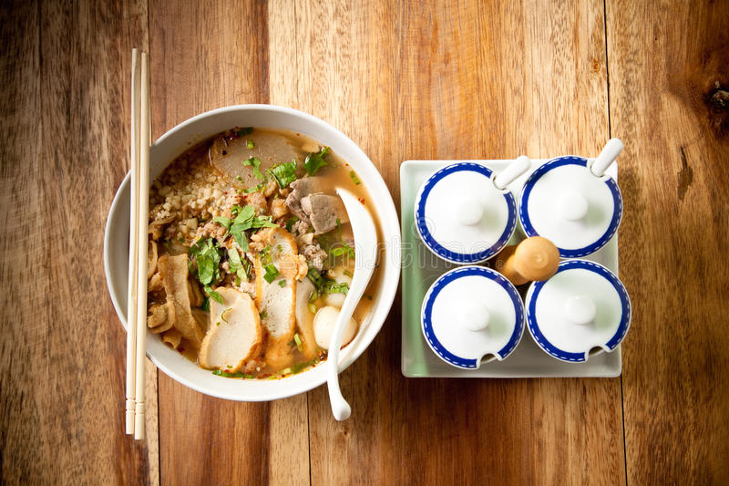 Thai noodle spicy. stock photography