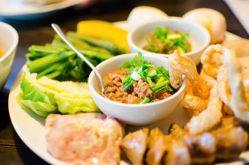 Thai Northern Style Pork and Tomato Relish. Food royalty free stock photo