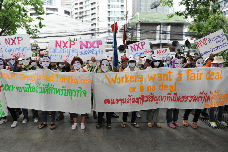 Download Workers Protest editorial stock image. Image of banners - 29842629