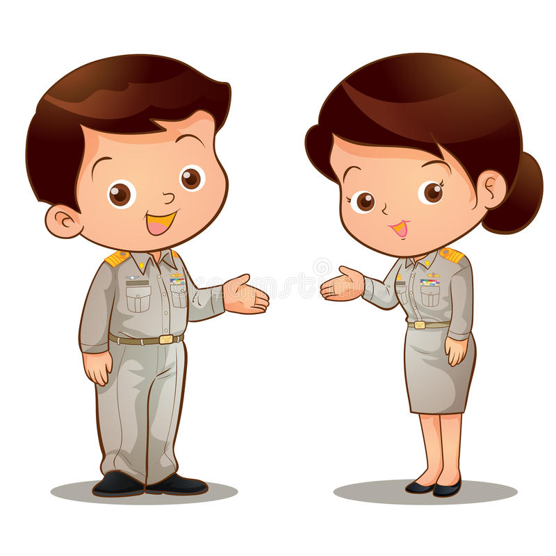 Thai official invite royalty free illustration