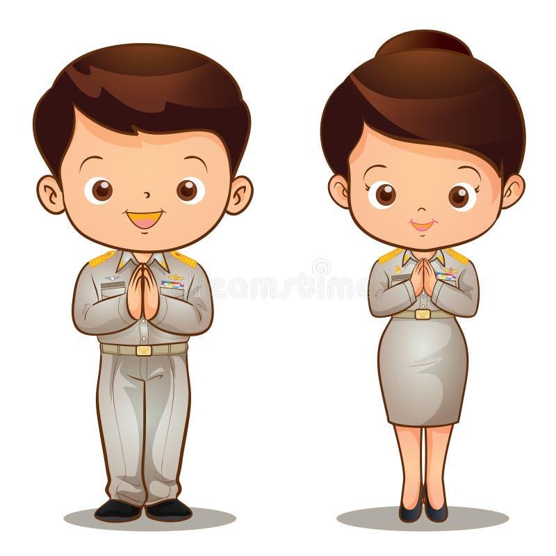 Thai official Sawasdee vector illustration