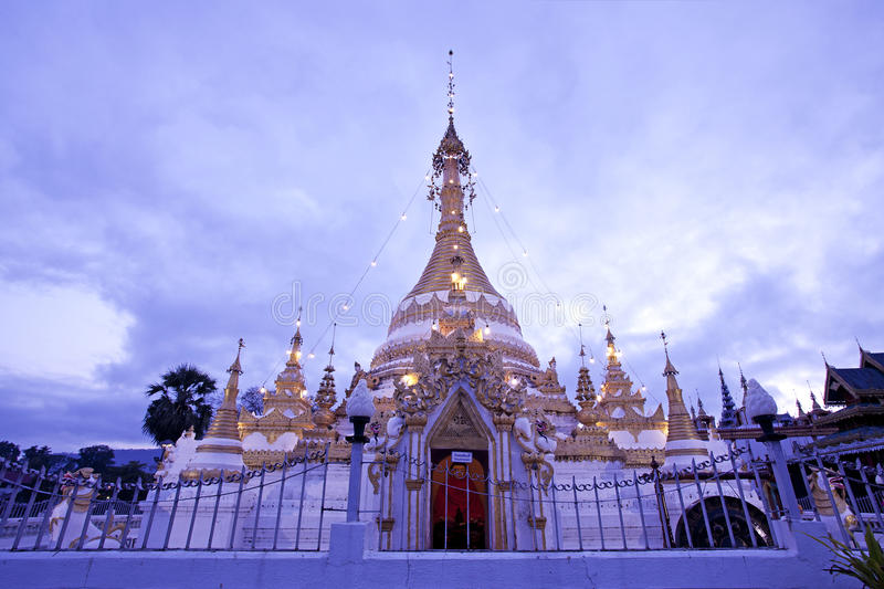 Thai pagoda. Thai Temple of northern Thailand royalty free stock images