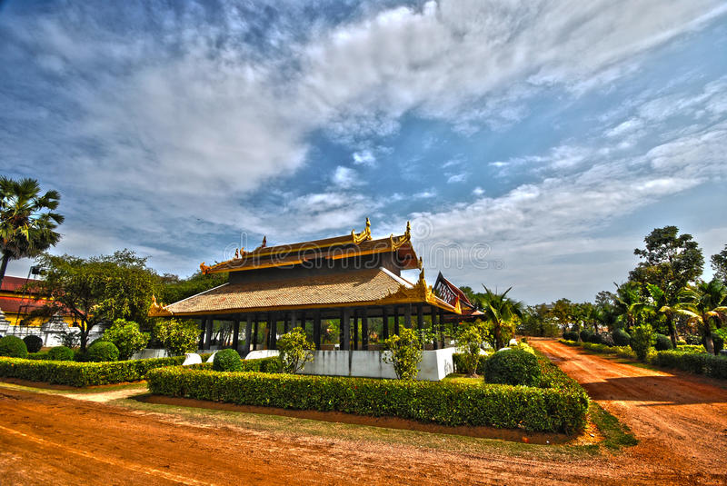 Thai palace temple in burma style HDR royalty free stock photos
