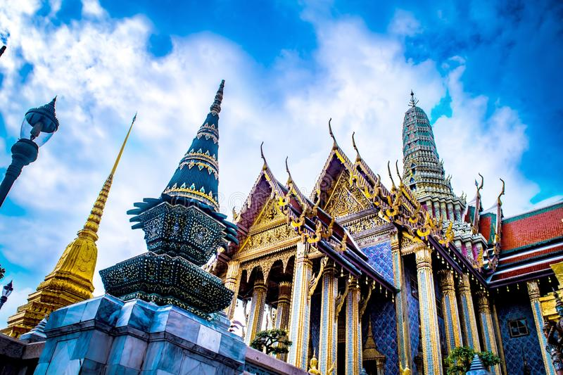 Thai palace temple royalty free stock photo