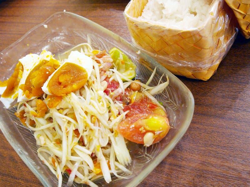Download Thai papaya salad stock image. Image of meal, detail - 23749191