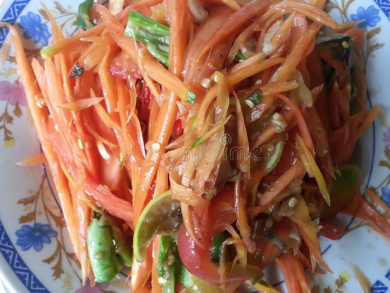 Download Thai Papaya Salad stock image. Image of bean, bowl, diet - 28897189