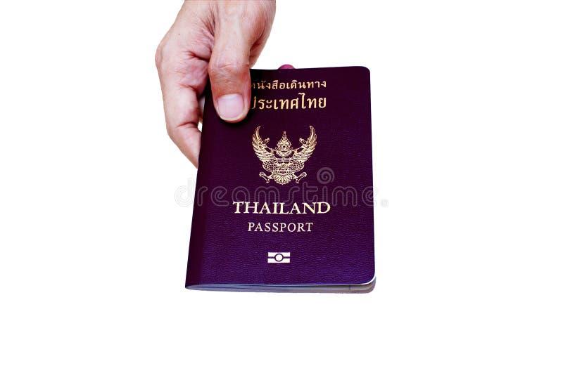 Thai passport. Thailand passport on white background royalty free stock photography