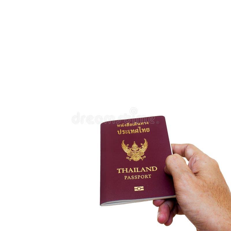 Thai passport. Thailand passport on white background stock photo