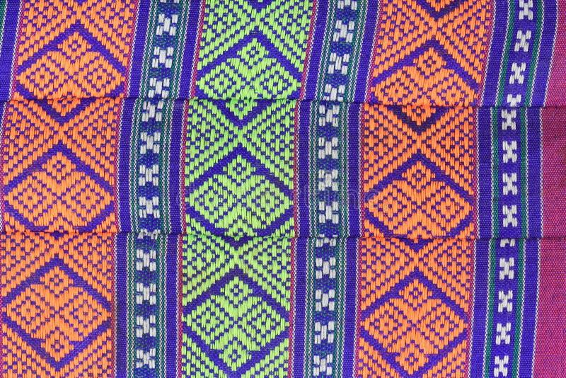 Thai pattern art style on cotton pillow royalty free stock photos