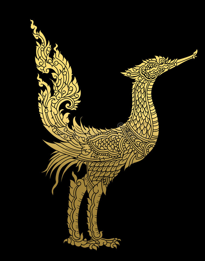 Thai pattern. vector illustartion.eps royalty free illustration
