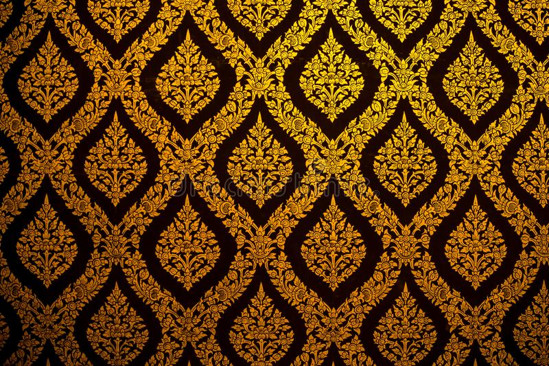Thai pattern wallpaper culture art background. In Temple stock photography