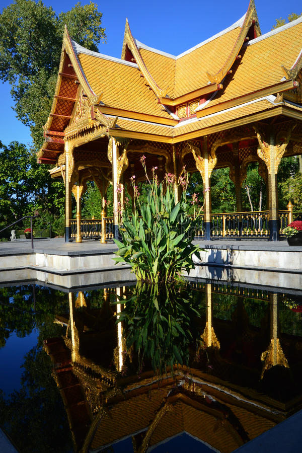 Thai Pavilion. The Thai Pavilion located at the Olbrich Botanical Gardens in Madison, Wisconsin is the only one in the continental United States and the only one stock photography