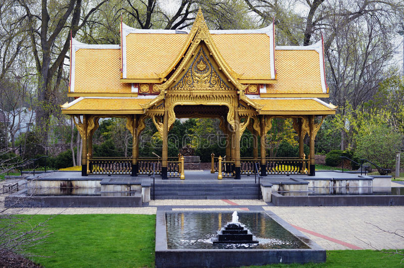 thai pavillion royaltyfri fotografi