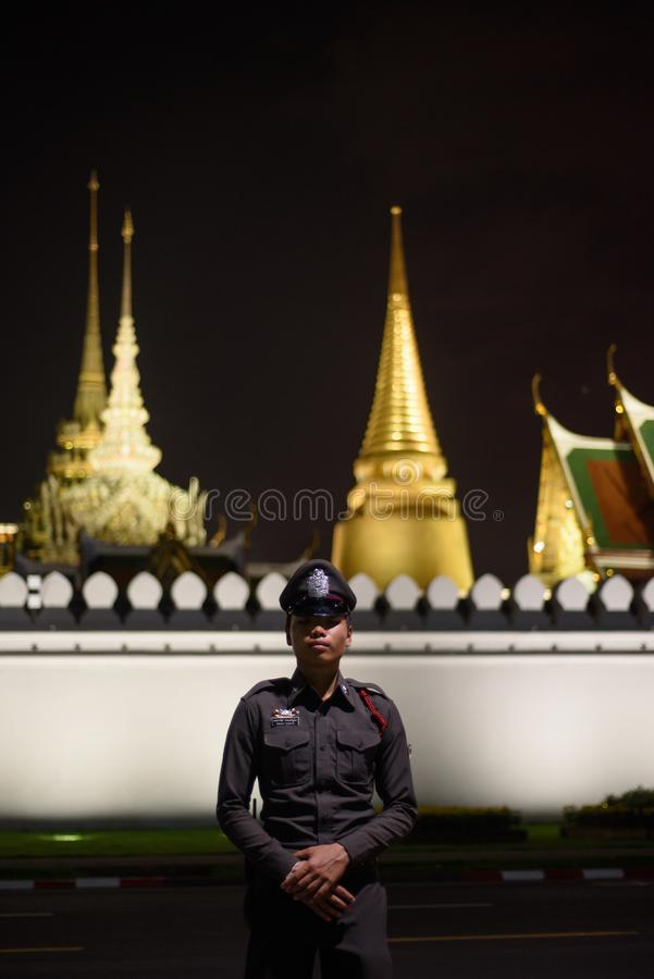 Thai people grieve over the demise of King Rama9. BANGKOK,THAILAND-DEC5,2016:The death of Thai beloved king rama9 on 13 October,2016 makes the people being in stock photo