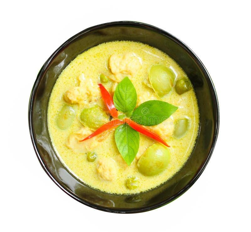 thai pork för kokkonstcurrygreen royaltyfri foto