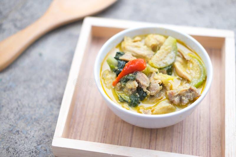 thai pork för kokkonstcurrygreen royaltyfria bilder