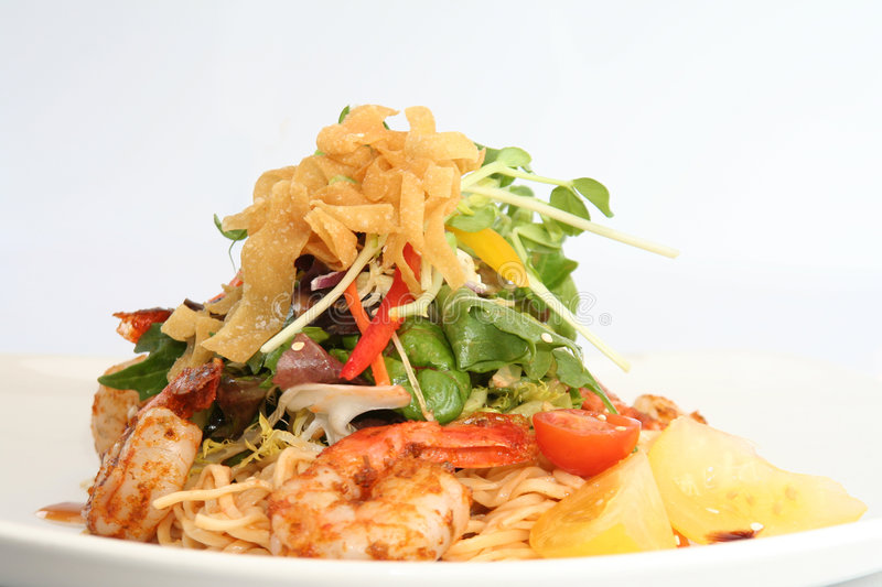 Thai prawn salad. stock images