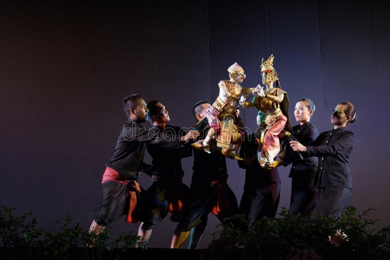 Thai puppet theater royalty free stock photography