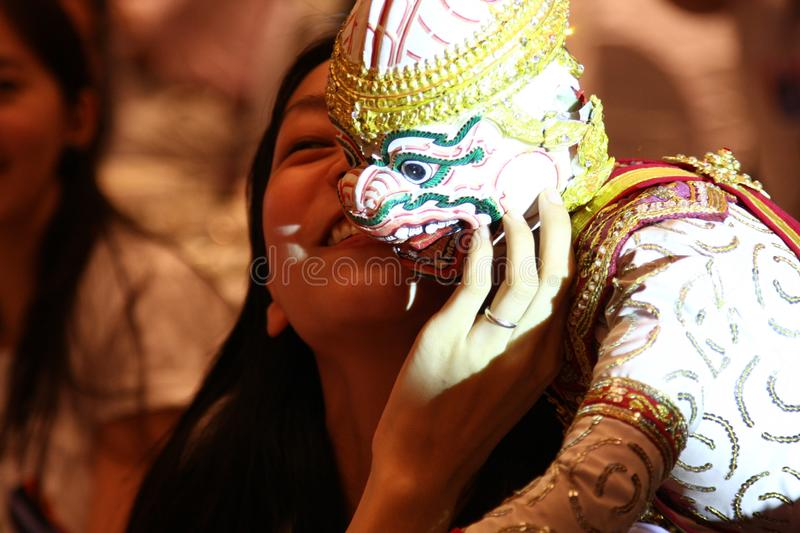 Thai Puppetry. Known as hun lakhon lek, is an ancient art form similar to Japanese buruku puppetry. Each puppet, usually just under a meter long 3.2 feet, is stock photo