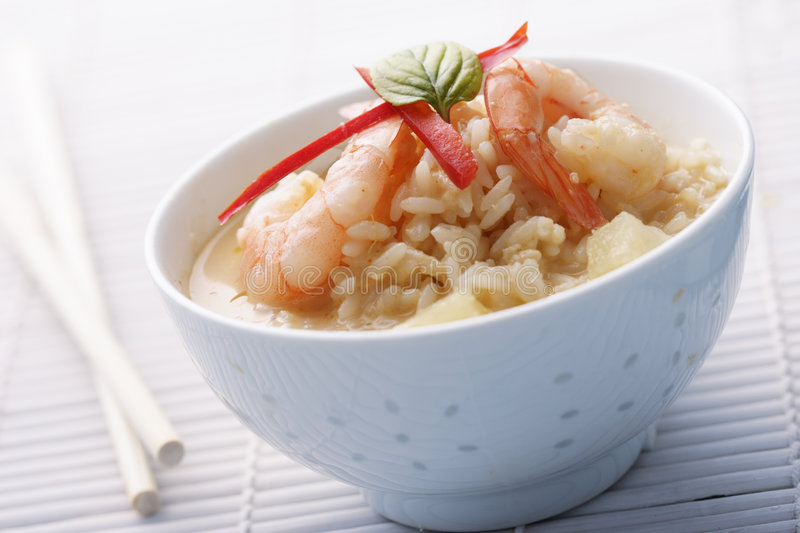 Thai red curry with pineapple royalty free stock photography