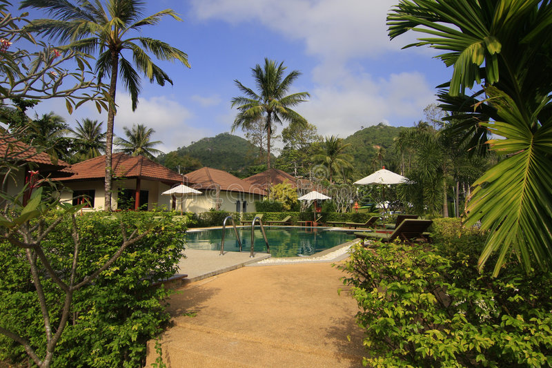 Thai resort royalty free stock photography
