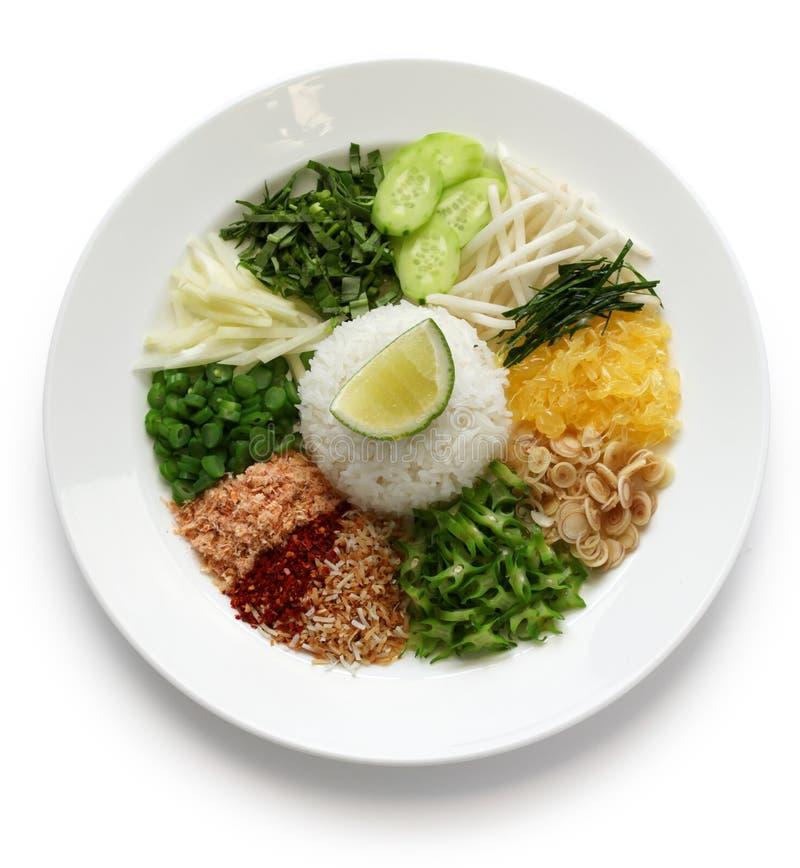 Thai rice salad royalty free stock photos