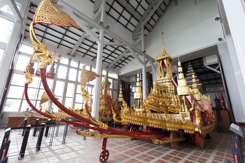 Thai royal chariot at the National Museum in Bangkok,Thailand stock photos