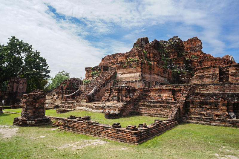 Thai Ruin Ancient Temple in Ayudhya royalty free stock photo