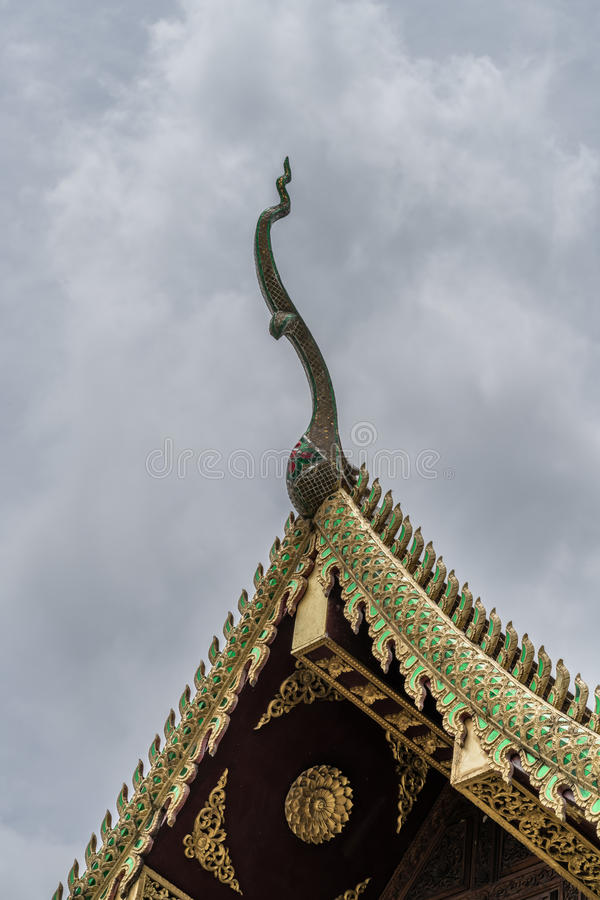 Thai& x27; s寺庙屋顶 图库摄影