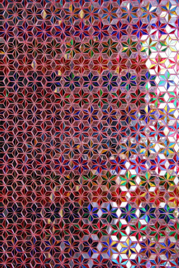 Thai S Pattern Made From Colorful Glass Royalty Free Stock Photography