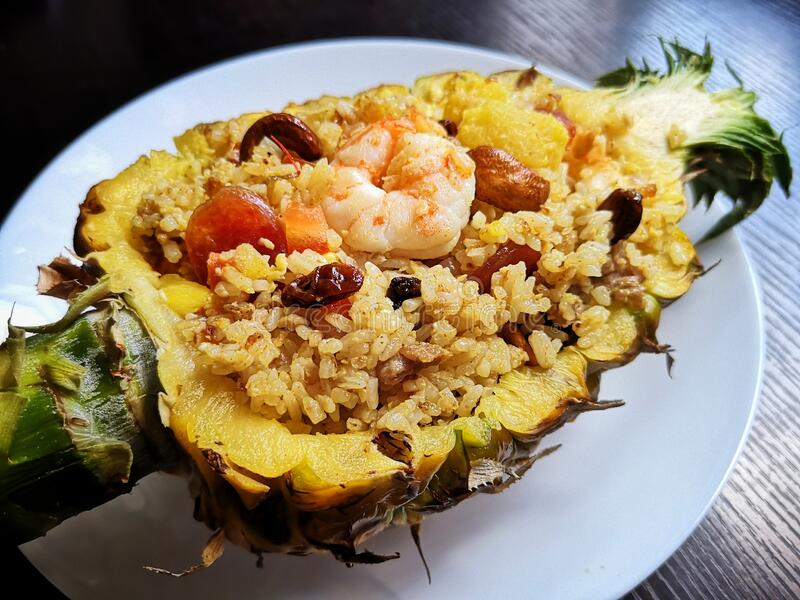 Thai& x27;s pineapple fried rice royalty free stock image
